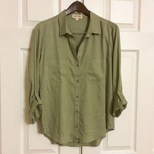 Cloth & Stone Button Down Tencel Shirt
